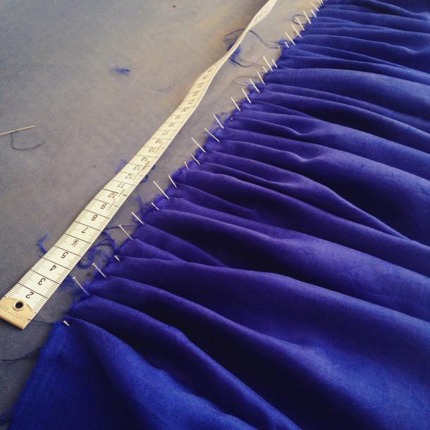 blaue Seide
